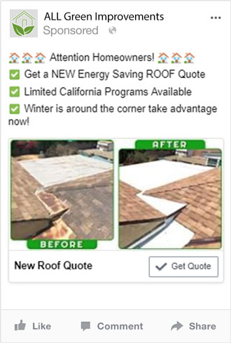 Facebook and Instagram Marketing for Home Improvement Company - Roofing