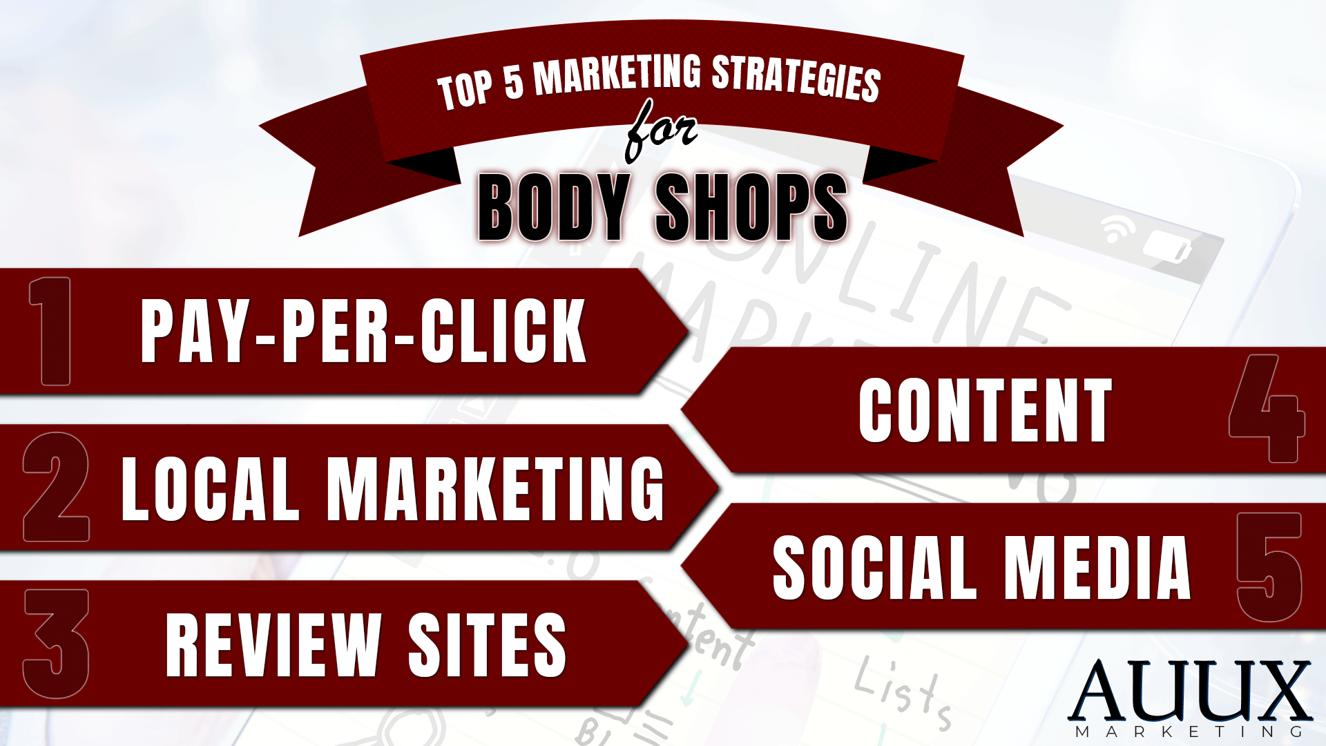 Top 5 Online Marketing Strategies for Body Shops